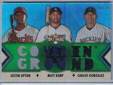 2012 TOPPS TRIPLE THREADS RELIC EMERALD #RC50 UPTON/ KEMP/GONZALEZ #5/18