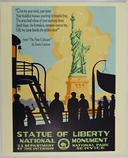 Statue Of Liberty National Park Vintage Federal Art WPA Style Travel Poster
