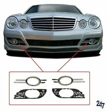 FRONT BUMPER FOG LIGHT GRILL FULL SET COMPATIBLE WITH MERCEDES BENZ E W211 06-09