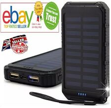 20000mAh SOLAR POWER BANK Portable Battery Pack Charger For iPhone Samsung UK