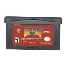 Nintendo GBA Video Game Console Card Cartridge Doom II