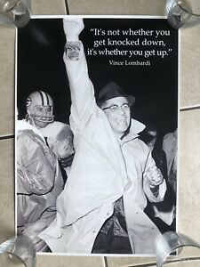 VINCE LOMBARDI POSTER it's Not Whether You Get Knocked Down It's When You Get Up