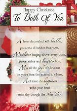 Happy Christmas To Both Of You - Christmas Decorations Greeting Card