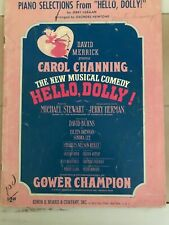 """Piano Selections from Broadway Show """"Hello Dolly"""" Vintage Sheet Music"""