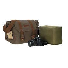 Koolertron Canvas Camera Backpack Bags Shoulder Bag for Canon Nikon DSLR SLR