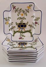 "Neiman Marcus ESTE Italy Floral 9.5"" Plates Set of 8 NWT"