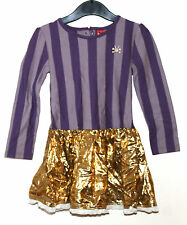 No Added Sugar Girls Age 2 Years Long Sleeve Purple/Violet/Gold New Dress Top