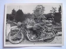 Foto Krad,Kradmelder mit Motorrad NSU  2.WK
