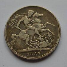 1887 Queen Victoria Crown Silver Coin