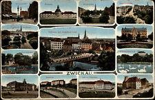 Zwickau Mehrbild-AK 1915 Dt. Feldpost gelaufen nach Johnsdorf 1. Weltkrieg War