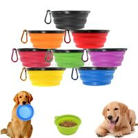 Pet Travel Portable Collapsible Pet Dog Bowl for Food&Water Bowls Dish Foldable
