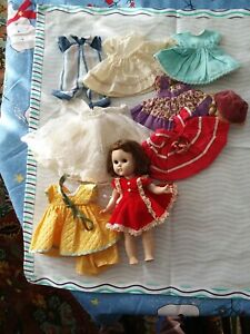 Vintage Ginny doll with clothes lot 2