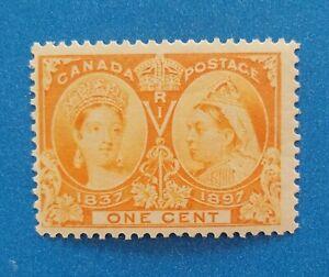 Canada Scott #51 MNH good original gum. Bright orange colors. Good sharp perfs.