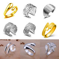 New Women Adjustable Open Band Thumb Rings Statement Gifts Creative Fashion