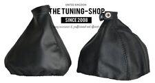 For Alfa Romeo 159 05-11 Gear & Handbrake Gaiter Black Genuine Leather