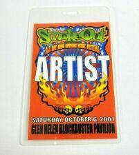 10/6/2001 Cypress Hill Smokeout laminated Artist pass San Bernardino Ca