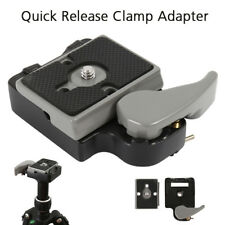 Quick Release SLR DSLR Camera Lens Tripod Clamp Plate Adapter Mount Screw Set CA