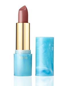 "NIB! tarte Rainforest-of-the-Sea Color Splash Lipstick in mauve-gray ""Salt Lyfe"""