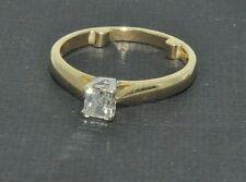 18ct gold 0.40ct square Millennium diamond ring size J