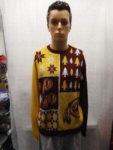 Washington Redskins Ugly Christmas Sweater XL NFL