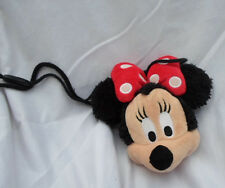 "Disney Minnie Mouse Change Purse 6"" Strap 15"" Plush Soft Toy Stuffed Animal"