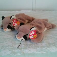 "Ty Beanie Babies Canyon the Cougar Beanbag 9"" Plush Stuffed Animal Toy Lot 2"