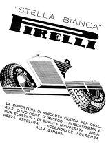 PUBBLICITA' 1932 GOMME PNEUMATICI PIRELLI STELLA BIANCA AUTO CORSA GARA BASSI