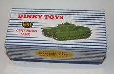 DINKY TOYS Reproduction Box 651 Centurion Tank