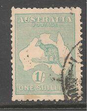 Australia #51 (A1) Vf Used - 1916 1sh Kangaroo and Map - Die Ii