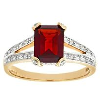 9ct White Gold natural Diamond and red ruby Ring  free postage