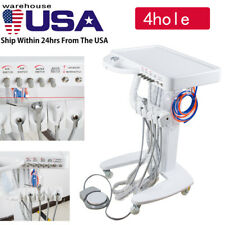 New Listingportable Mobile Dental Delivery Unit System Cart Treatment Work Compressor 4hole