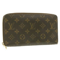 LOUIS VUITTON Monogram Zippy Organizer Wallet M60002 LV Auth 18818