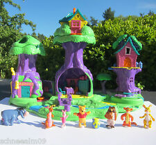Disney Polly Pocket Winnie The Pooh Hundertmorgenland Playset Puuh 7 Figuren