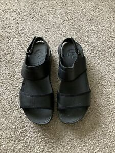 WOMENS FITFLOP BLACK SANDALS SIZE 7