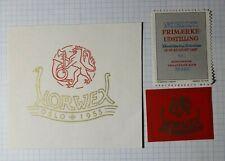 Norwex 1955 Oslo Norway Mnh Philatelic Souvenir Ad Label