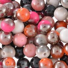100 Mixte Perles Intercalaires Acrylique Pour Bracelet Collier 10mm