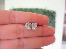 .63 CTW Diamond Detachable Earrings 18k White Gold E383 sep
