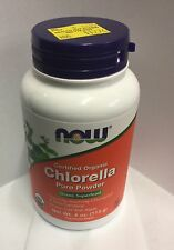 NOW Foods - Chlorella Pure Powder Certified Organic - 4 oz. FAST SHIPPING
