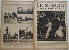 Le Miroir des Sports n°99- 1922 - Atlhétisme Tennis Aviron Hockey