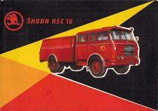 SKODA ASC 16 FIRE ENGINE PRIMI ANNI'60 francese delle vendite sul mercato opuscolo