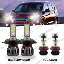 4X 6000K Led Headlight High Low Beam + Fog Light Bulb for Honda Crv Cr-V 2007-14