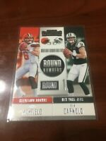 2018 BAKER MAYFIELD & SAM DARNOLD PANINI CONTENDERS ROUND 1 ROOKIE RC NUMBERS !!