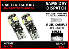 X2 CANBUS 5 LED SIDELIGHT XENON WHITE BULBS NISSAN MURANO 2000-07 501 T10
