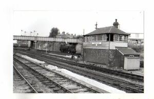 Rail Photo SR LSWR Andover station Signal box B Hampshire