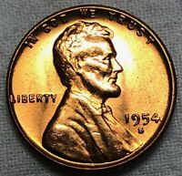 1954 S Lincoln Wheat Cent 1c ~ US Mint Error ~ Extra Wheat Head ~ BU & Lustrous