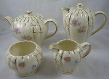 Sudlows Durslum Cream And Gold Floral Tea Set