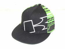 New W/ Tags Kawasaki Cap Mens LX Baseball Hat Black Green KAK003-4038-BKLX