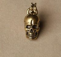 Chinese Collection old Asian Antiques Pure brass skull small pendant B2