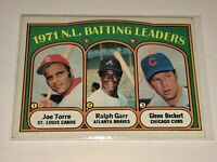 1972 ~NATIONAL LEAGUE BATTING LEADERS #85 /TOPPS VINTAGE CARD~CONDITION: NM-MT 8
