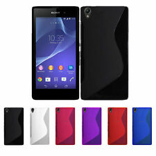 NEW S-LINE SONY XPERIA Z1 L39H GEL CASE + FREE SCREEN PROTECTOR